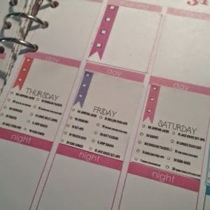 Daily workout routine stickers to fit erin condren squares