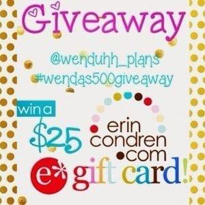 $25 erincondren e gift certificate giveaway