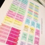 Planner Flags Stickers (Free Printable)