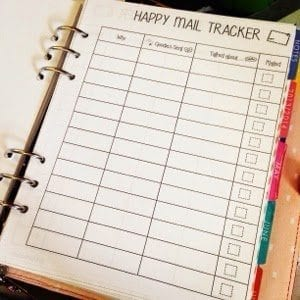 Happy Mail Tracker Free Printables