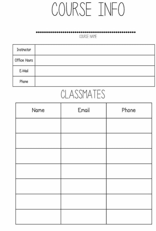 printable student planners