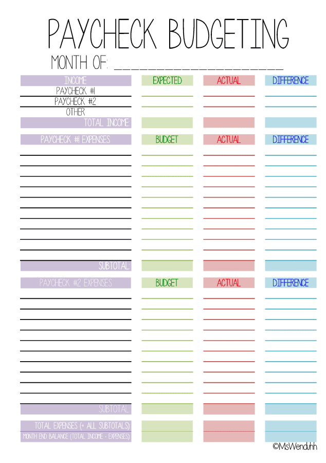 Free Printable Monthly Planner Templates