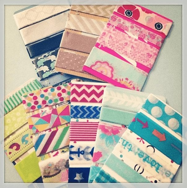 How to Make Washi Card Samples | Wendaful