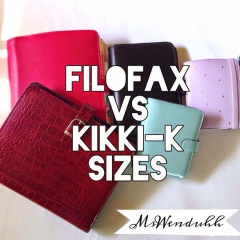 Filofax vs. Kikki-K Planner Sizes