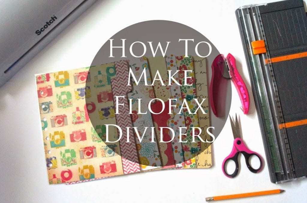 How To Make Filofax Dividers
