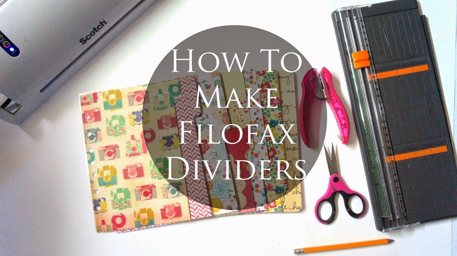 How To Make Filofax Dividers