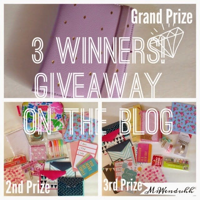 Kikki-K Small Lilac Time Planner Giveaway + Stationery Goodies (3 Winners)