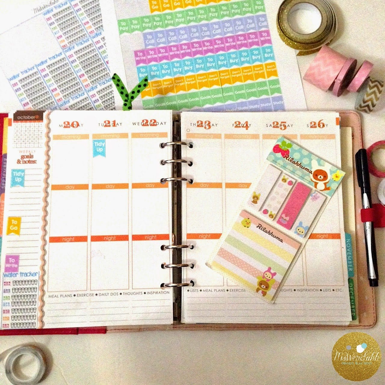 How I Decorate and Plan My Weeks In My Erin Condren Planner – Week #43