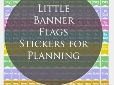 Little Banner Flags in Black or White Font