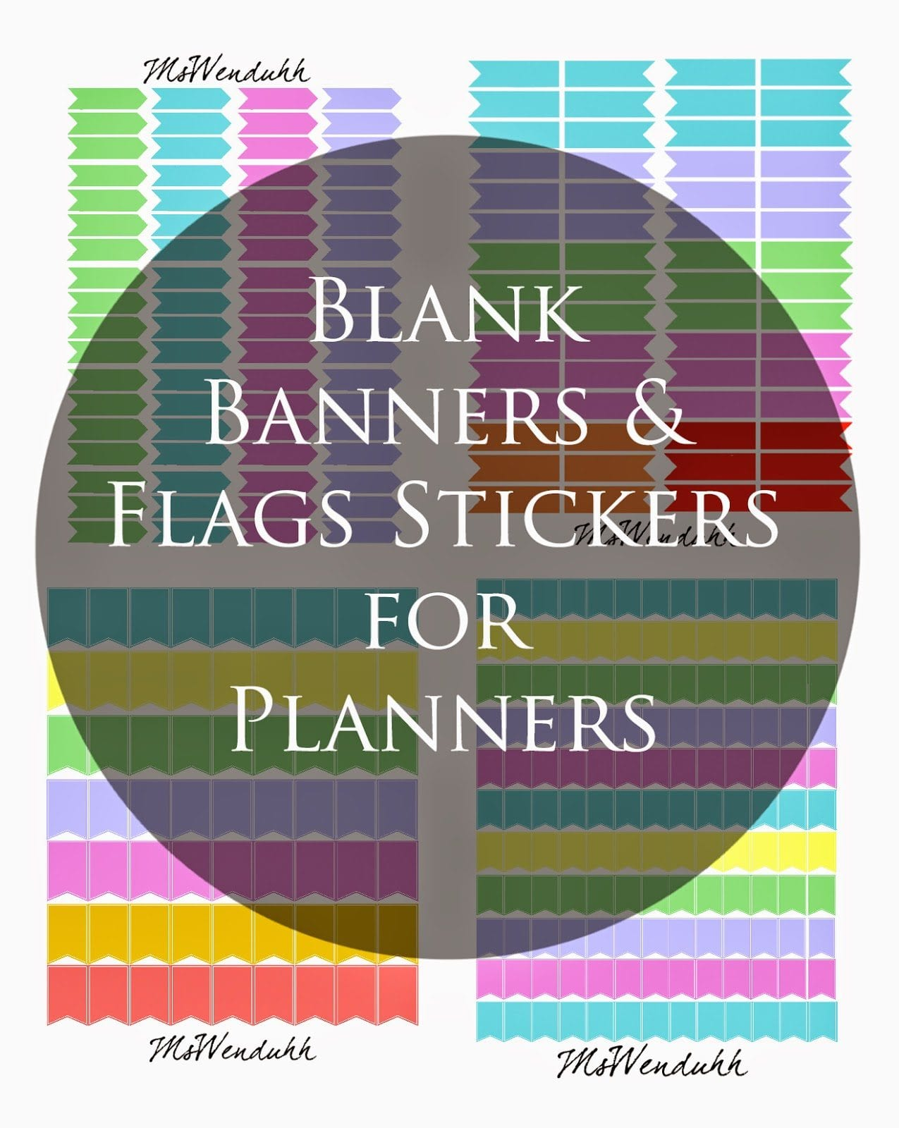 Blank Banners & Flags Stickers Download