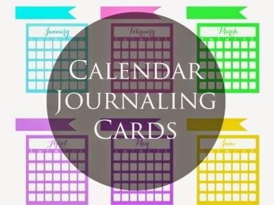 Calendar Journaling Cards