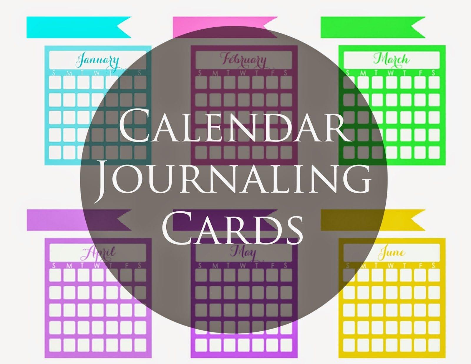 June Calendar Heading Clipart : Calendar journaling cards wendaful
