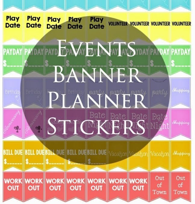 Special Events Banner Stickers