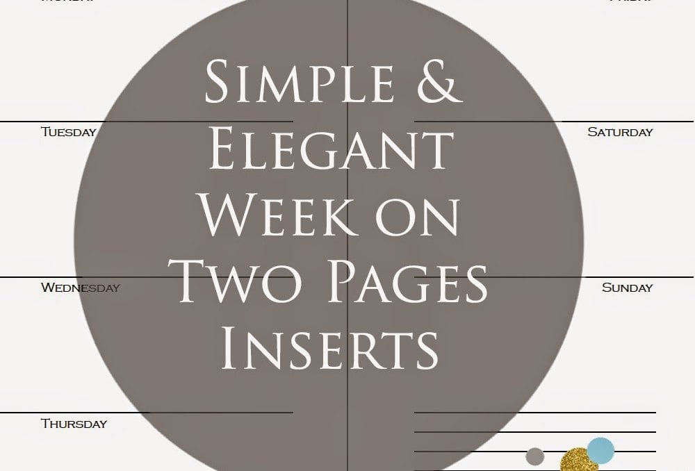 Simple & Blank Week On Two Pages Inserts