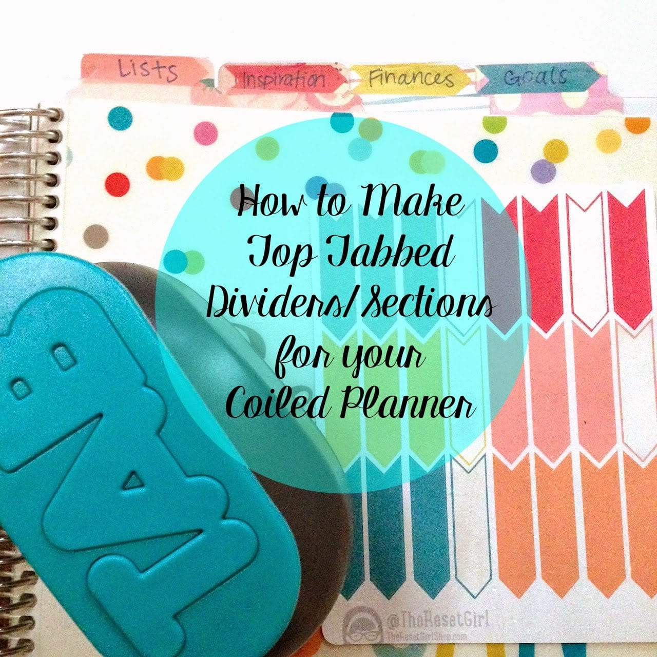 How to Make Top Tabbed Dividers & How I Use My Notes Sections (featuring My Coiled Erin Condren Planner)