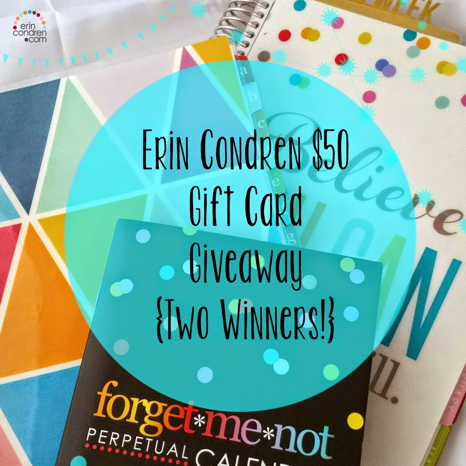 Erin Condren $50 Gift Cards Giveaway! {Two Winners} {CLOSED}