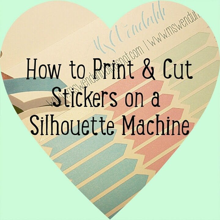 Silhouette Printing & Cutting Stickers Tutorial Series: Getting Started