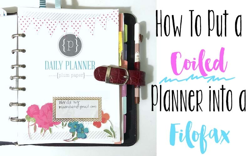 How to Put a Coiled Planner into a Ringed Binder/Filofax