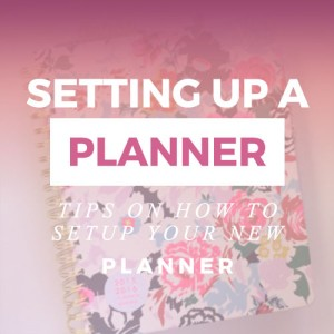 setting up a planner