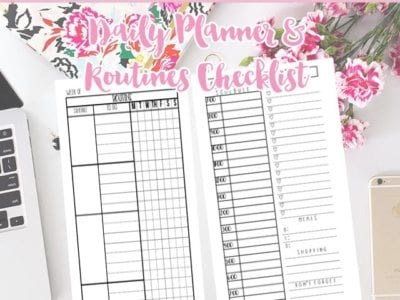 Routines & Daily Planners – Free Editable Printables