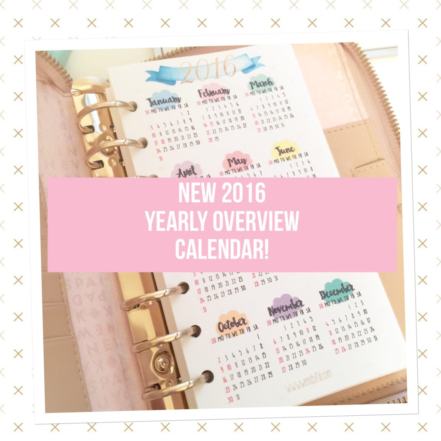 Year Calendar Overview : Free planner printable yearly overview calendar