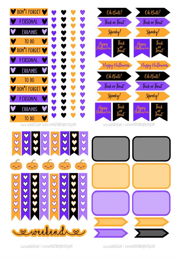 Wendaful Printable Stickers | Planners