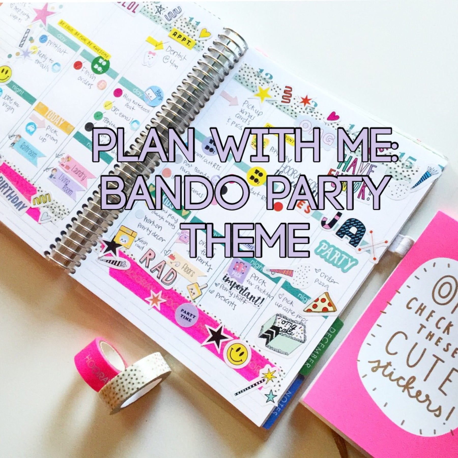 Plan With Me Bando Party Theme In My Erin Condren Planner