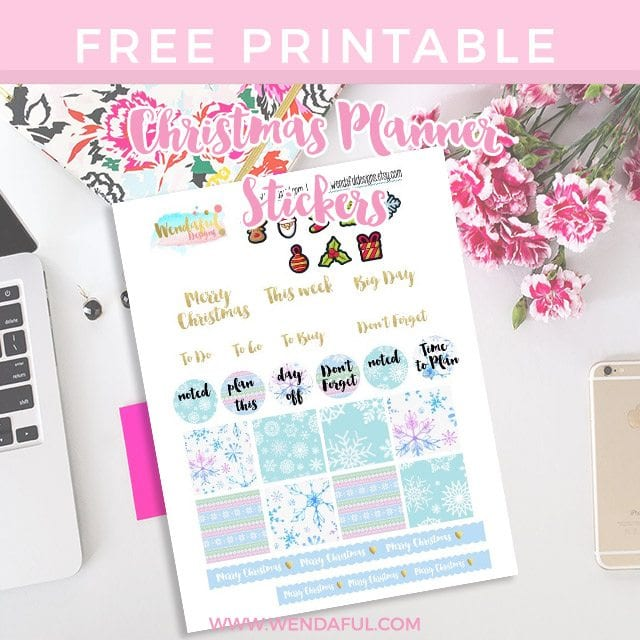 Christmas Planner Stickers Printable Freebie