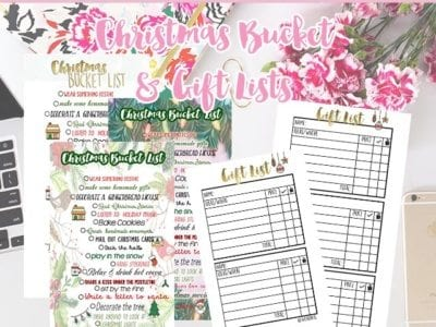 Christmas Planner Inserts