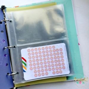 sticker mini binder
