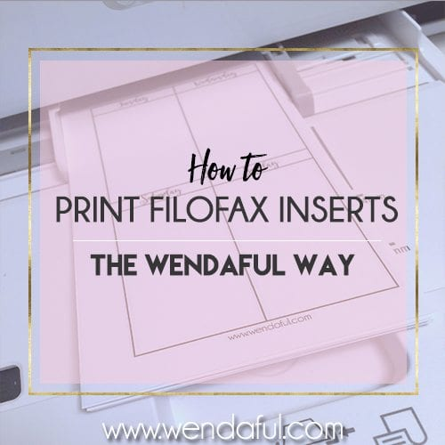 how to print filofax inserts