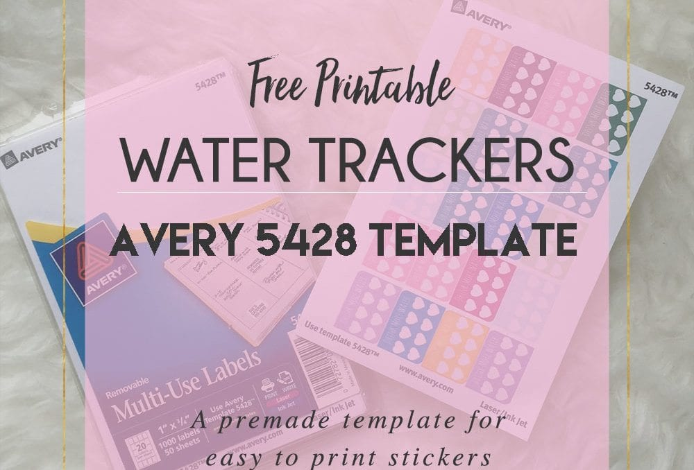 Free Avery Printable – Water Trackers