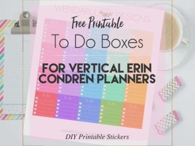 Free Printable To Do Boxes