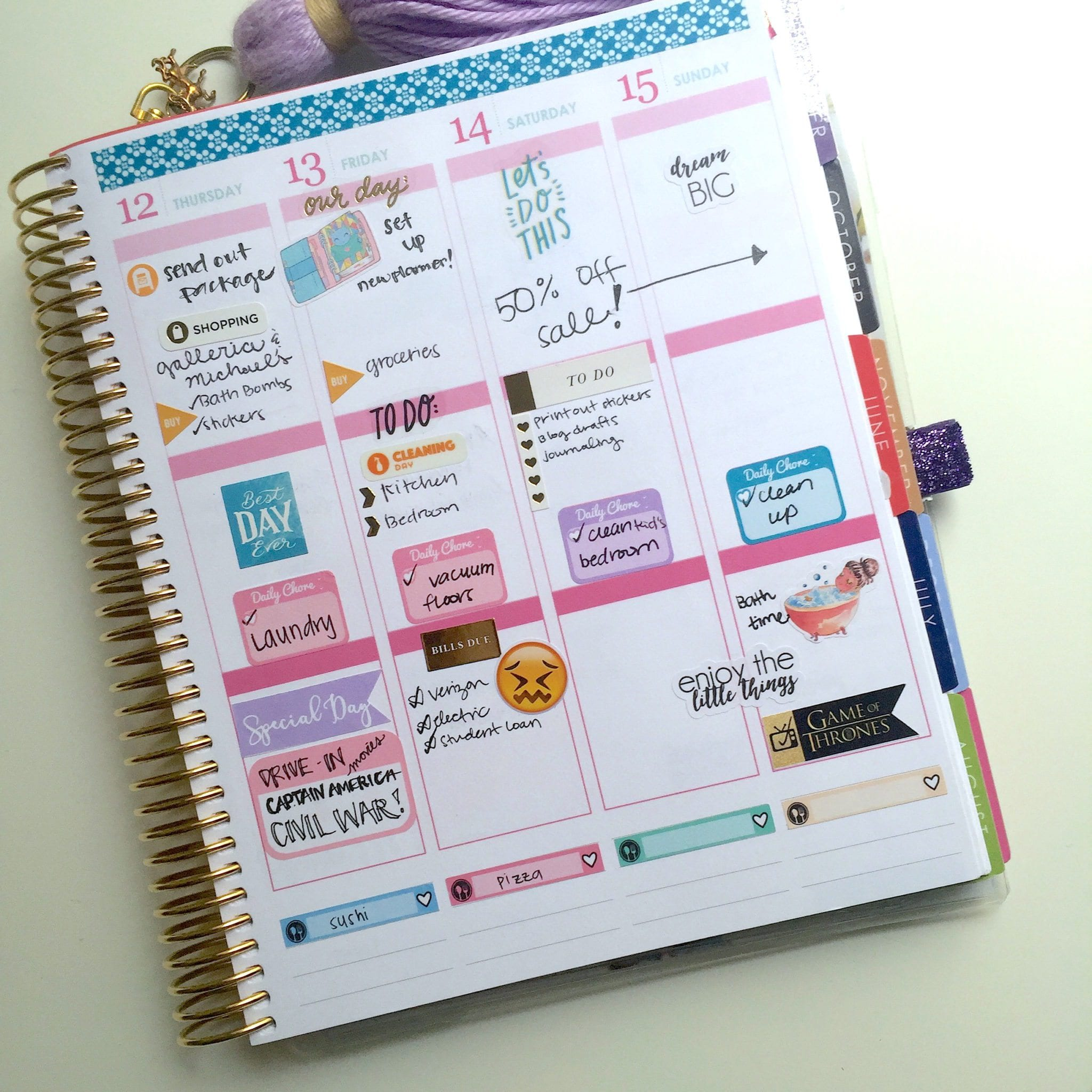 Free daily stickers avery 5428 template wendaful for Make your own planner online