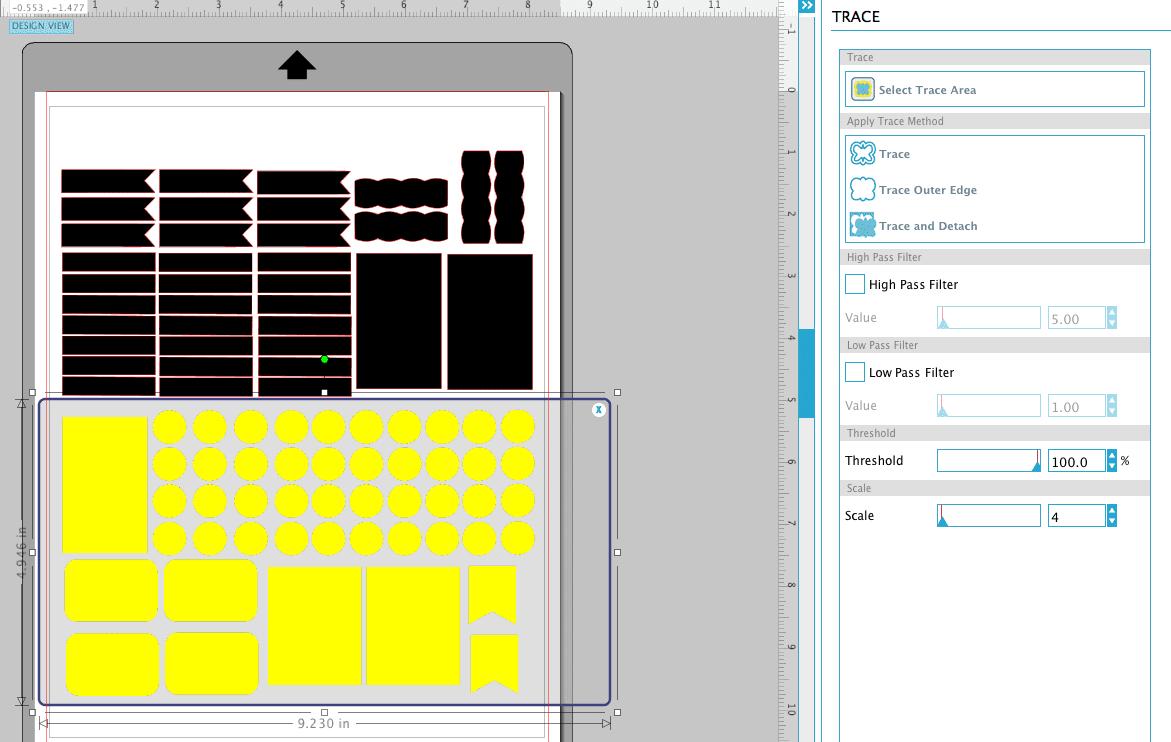 tracing in silhouette studio