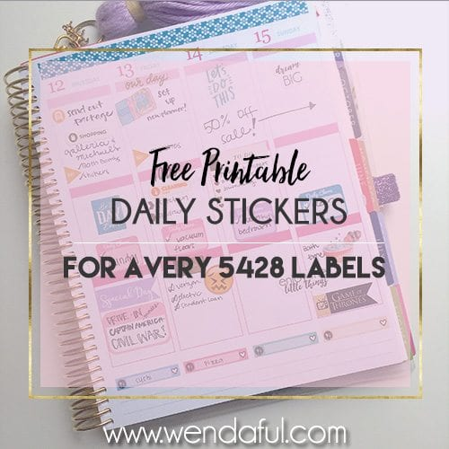 Punchy image within avery printable stickers