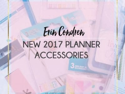 New 2017 Erin Condren Accessories