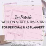 Free Planner Inserts – Week on a Page with Trackers