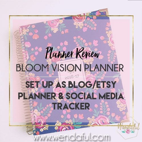 Bloom Vision Planner Review & How I use it as My Blog Planner