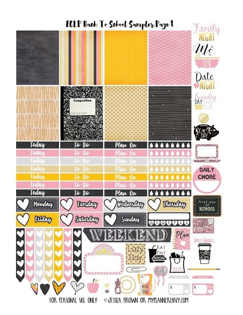 ECLP Back To School 2 Sampler Page 1