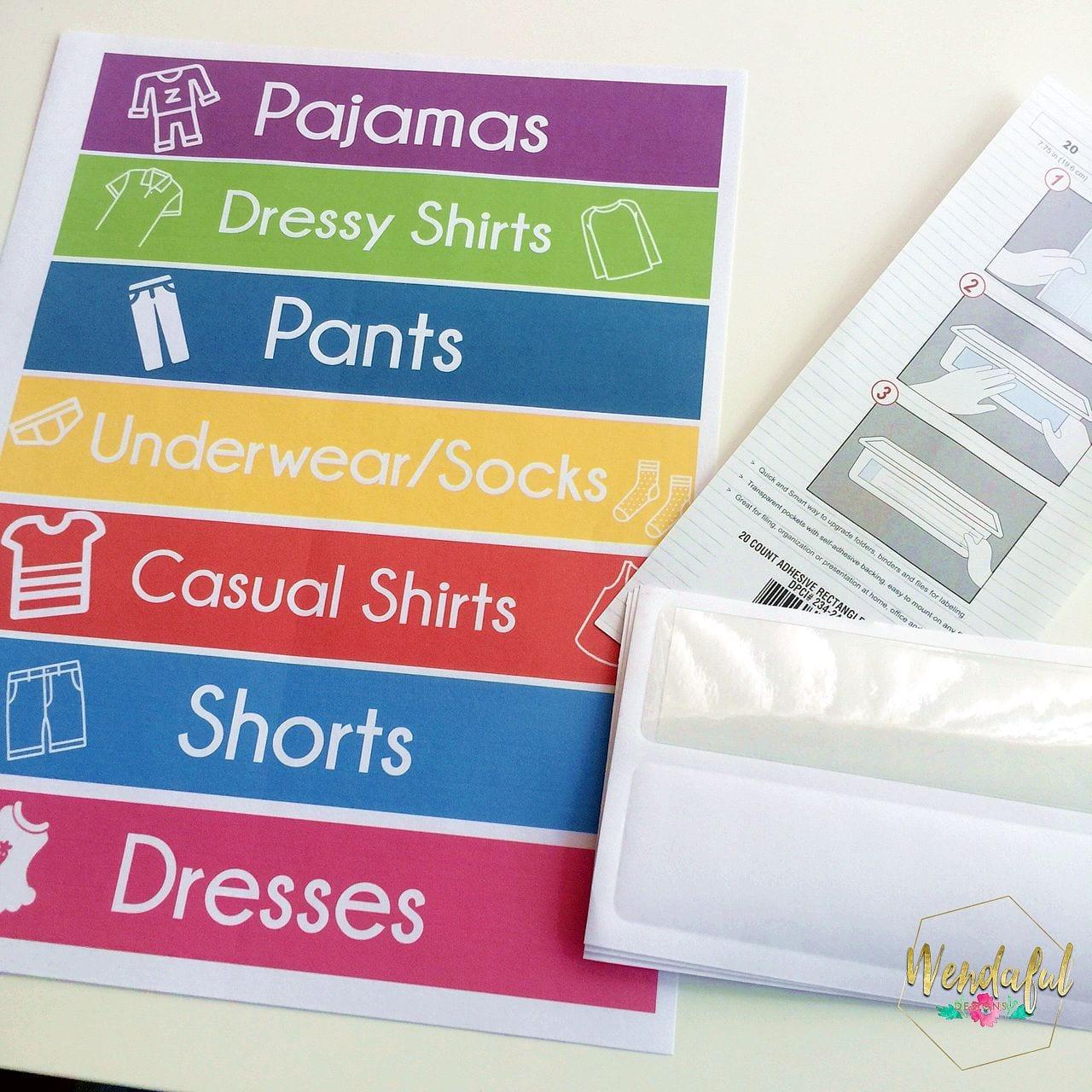 clothes labels