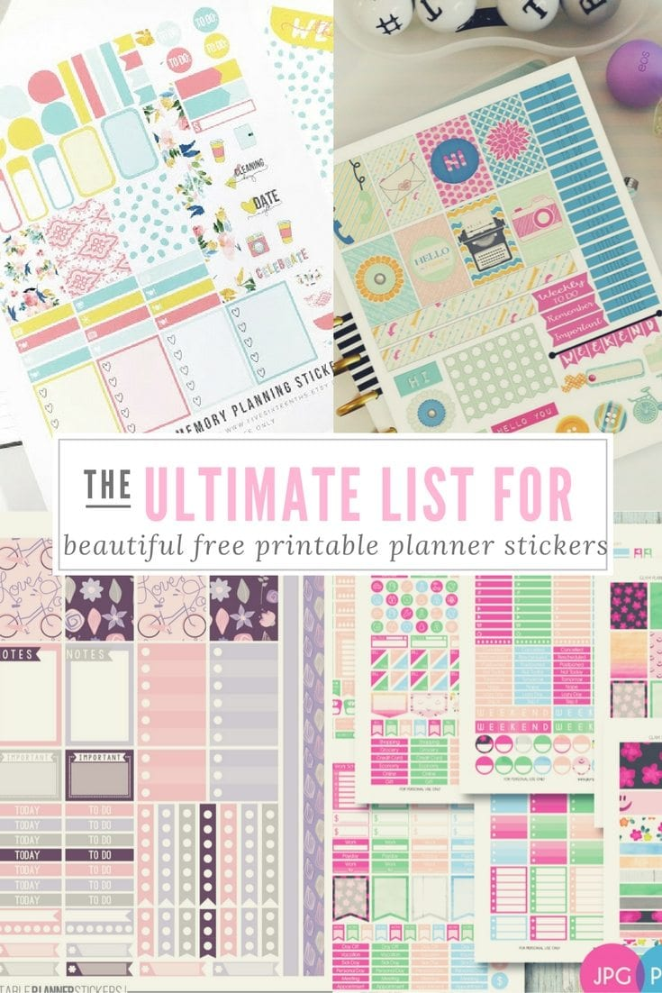 It is a graphic of Genius Free Printable Stickers for Planners