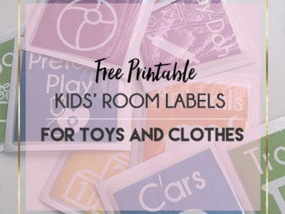 Easy Free Kids' Room Organization Labels