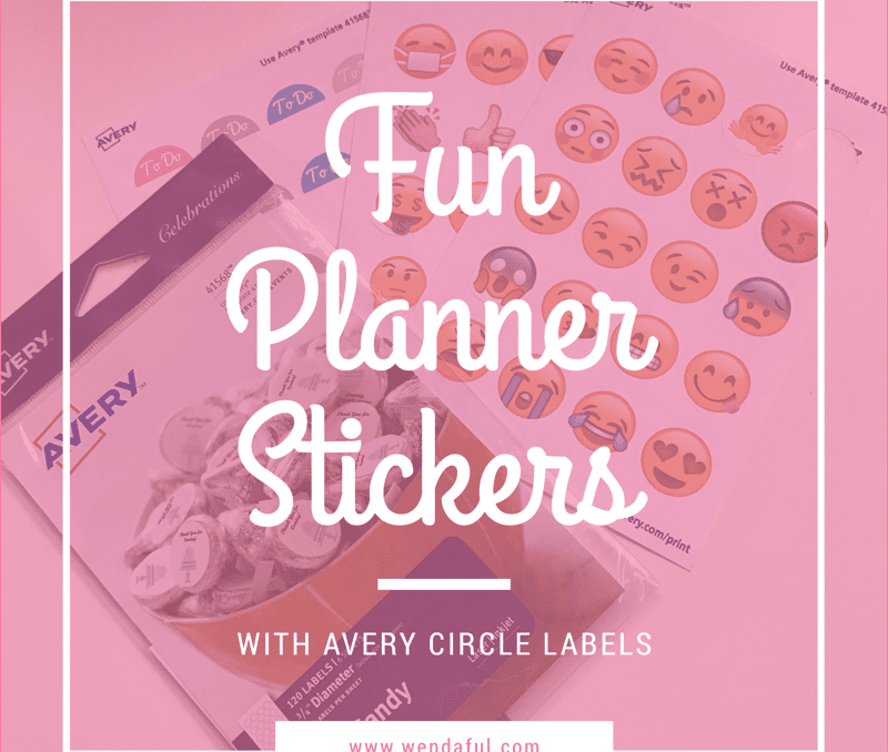 Fun Planner Stickers with Circle Avery Labels