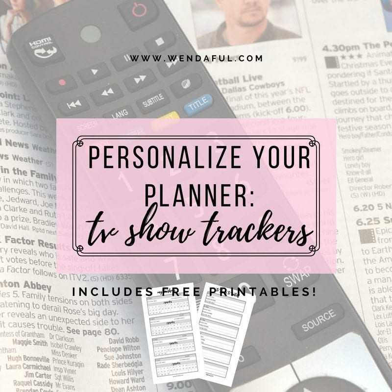Personalize Your Planner: TV Shows Trackers Inserts