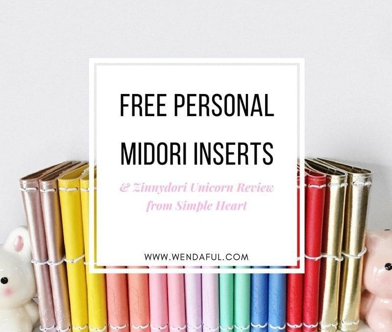 Personal Size Midori Inserts & Zinnydori Review