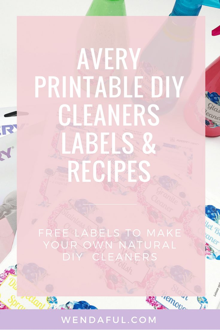 DIY printable cleaners + recipes