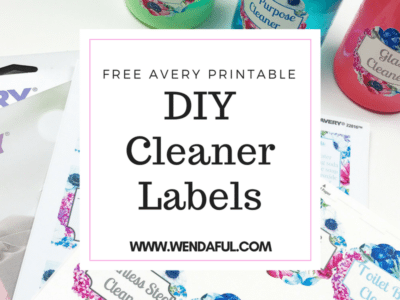Avery Printable DIY Cleaners Labels & Recipes