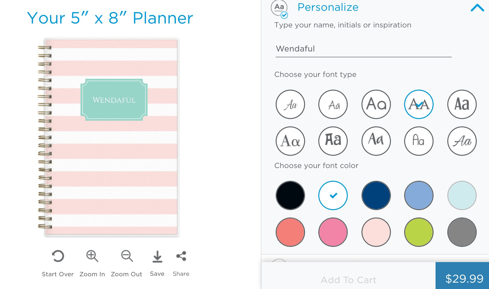 Design your own personal planner best free home for Create your own planner online