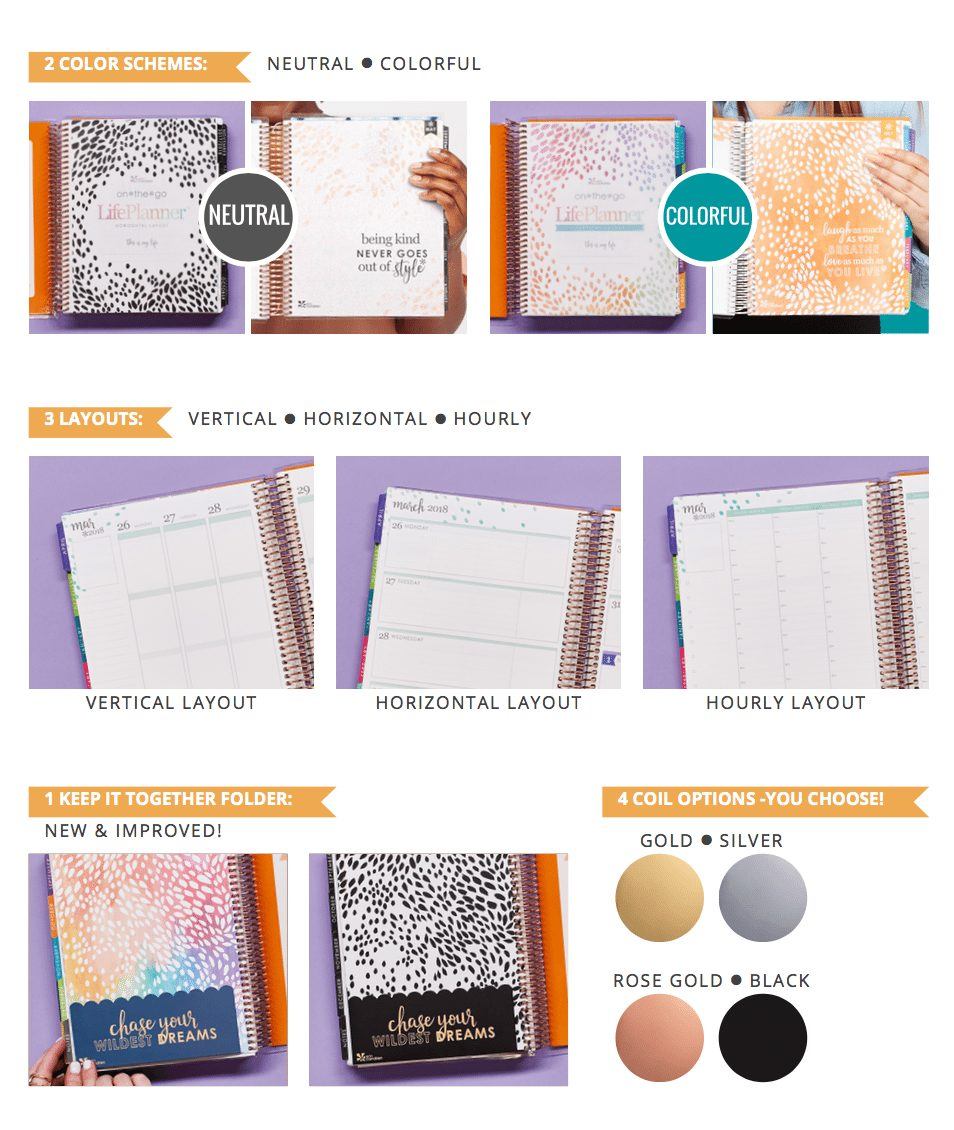 New 2018 EC LifePlanners